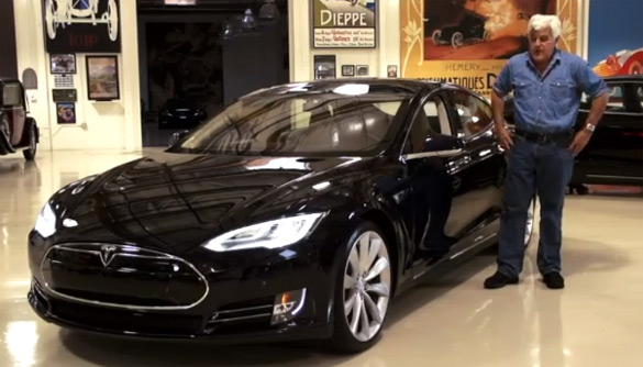 Jay Leno Gets Electrified Driving 2013 Tesla Model S: Video