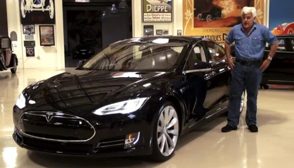 Jay Leno Gets Electrified Driving 2013 Tesla Model S: Video