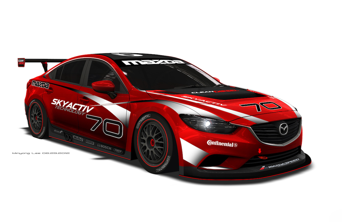 Mazda6 Skyactiv Diesel To Compete In 2013 Grand-Am Series