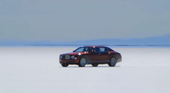 Andy Green Pushes 200 MPH in New Bentley Mulsanne at Bonneville Salt Flats: Video
