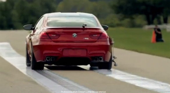M Print: BMW uses M6 Coupe as a Marketing Printing Press on the Track – Video