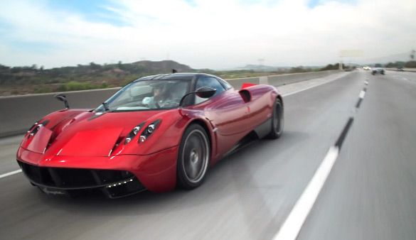 Jay Leno Drives the Pagani Huayra – Jet Sounds Standard: Video
