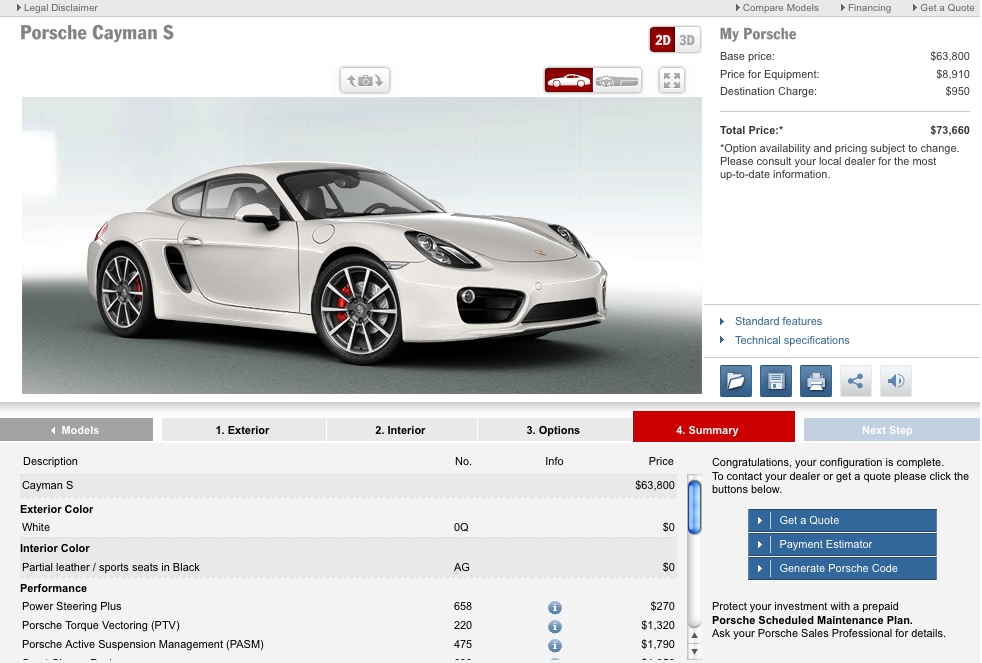 Just In Time For The Holidays, Porsche Launches Cayman Configurator
