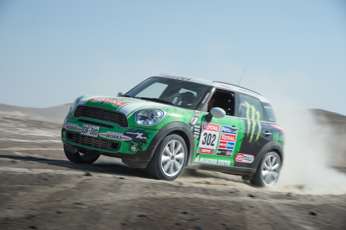 Peterhansel's MINI, in on-road trim - image: BMW