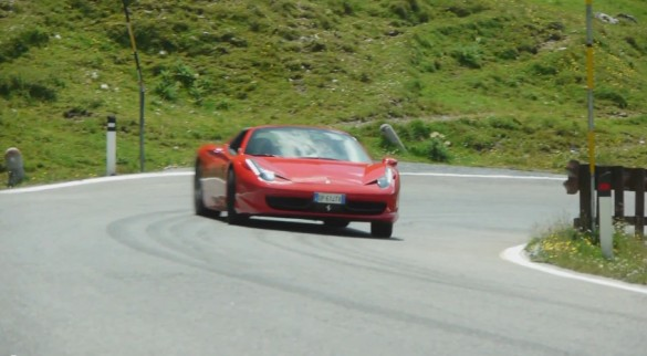 Watch A Ferrari 458 Italia Drive The Greatest Road In The World: Video