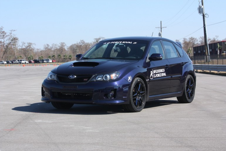The WRX STI Wearing g-Force Rivals