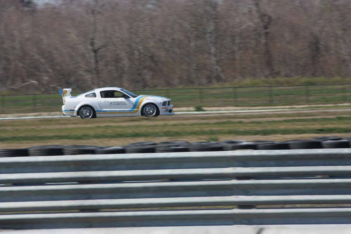 The Mustang FR500 at speed