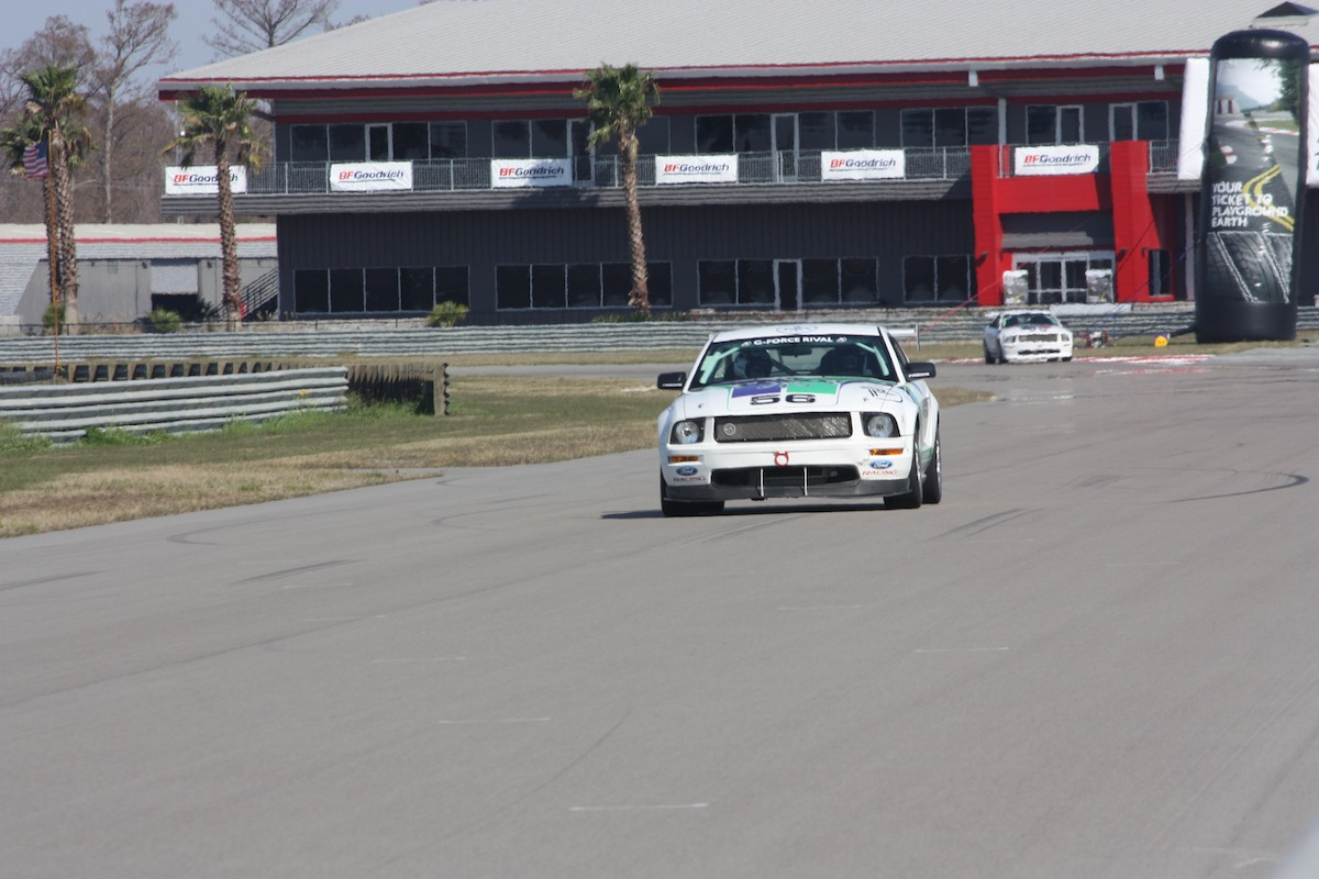 The Mustang FR500, on the gas
