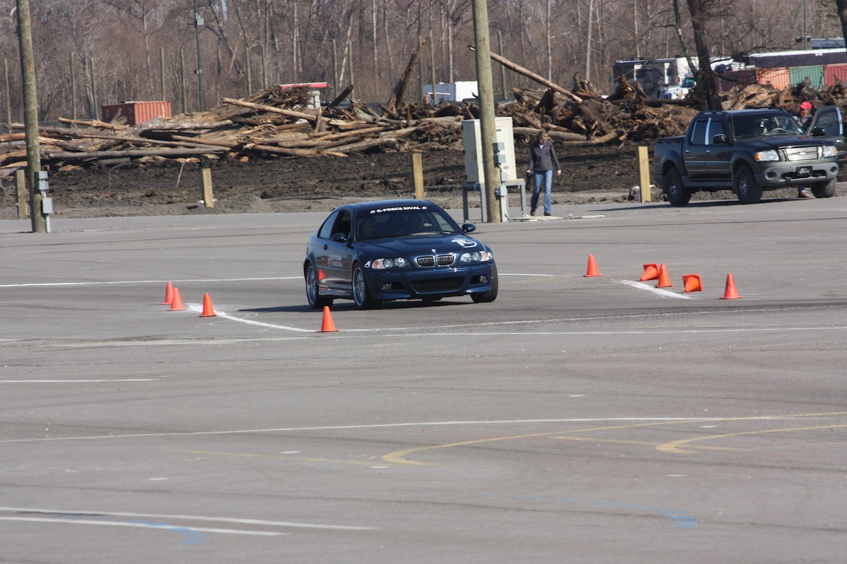 An E46 BMW M3 tests the Rival's limits