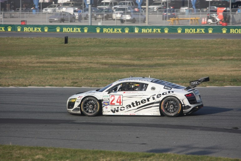 The GT Class winning Audi R8 of Alex Job Racing