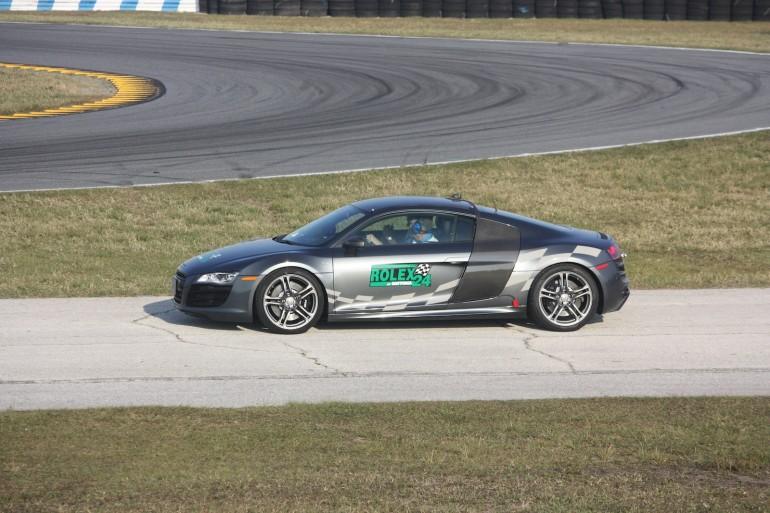 The Audi R8 pace car