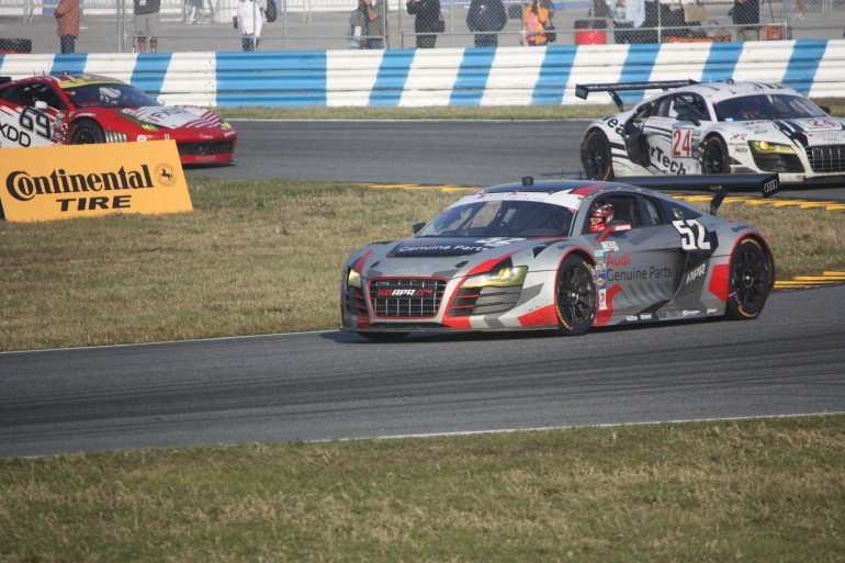 The second-place Audi R8 of APR Motorsports