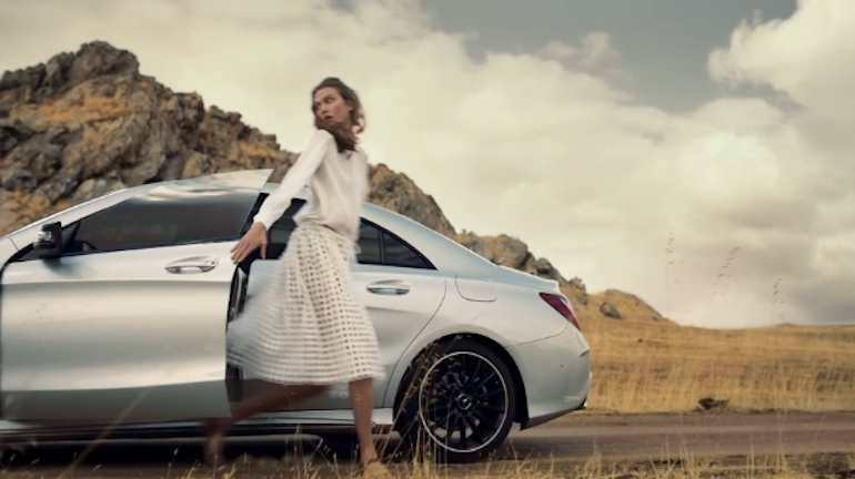 Even Supermodels Aren't Hip Enough For The Mercedes CLA: Video