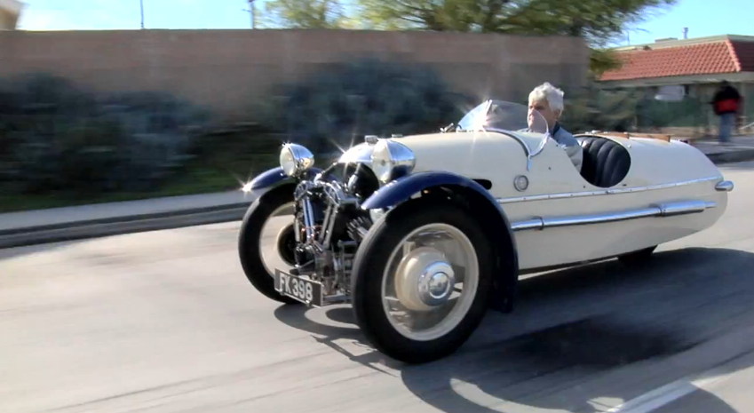 Jay Leno Shows Off His 1932 Morgan Three-Wheeler: Video