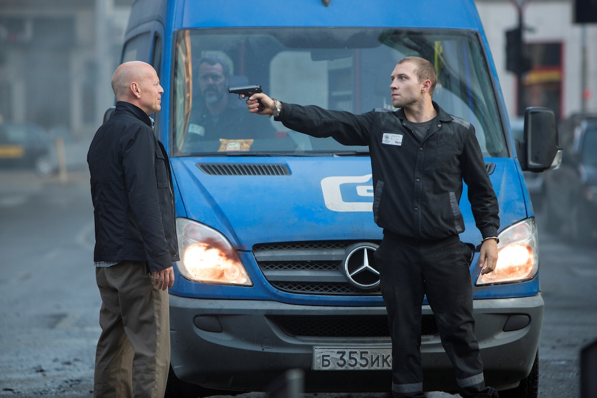 The Mercedes-Benz Sprinter, with co-star Bruce Willis - image: Mercedes-Benz