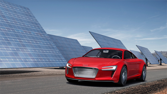 Audi R8 e-tron Officially Unveiled and Displayed at Frankfurt Motor Show