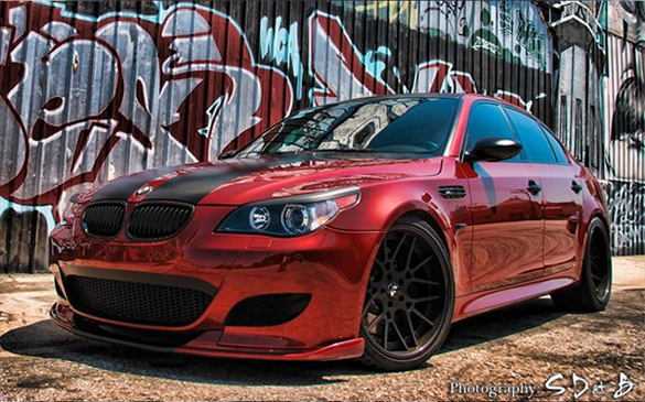 Bmw M5 Sitting On 20 Inch Forgiato Maglia Wheels W Carbon