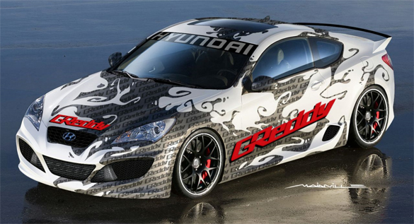 GReddy Preps Go-Faster Genesis Coupe For SEMA With Goal Of 500 HP
