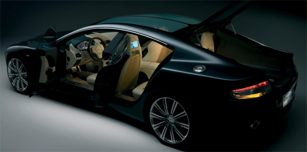 Aston Martin Rapide interior leaked