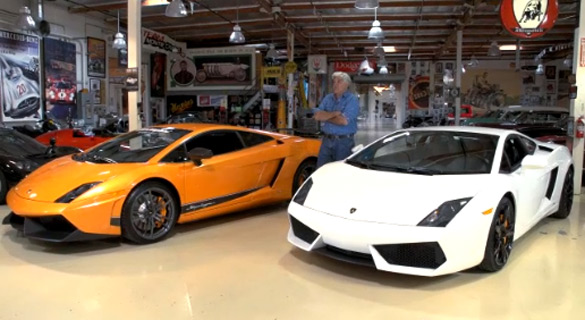 Video: Jay Leno Does Side-By-Side Comparison of Lamborghini Gallardo LP570-4 and LP550-2