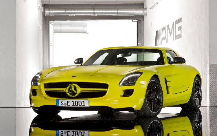 526-Horsepower Electric Mercedes-Benz SLS E-Cell Prototype Revealed