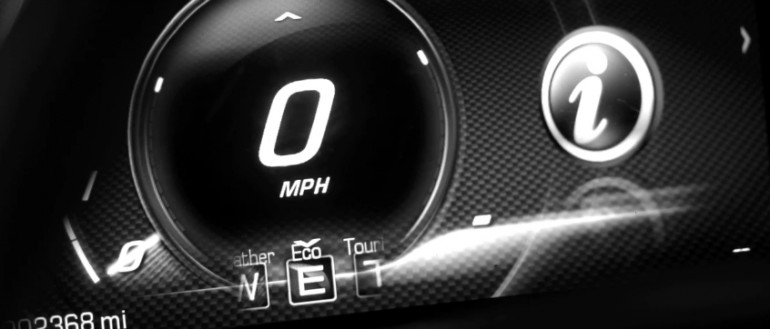 The Driver Mode display in the 2014 Corvette Stingray