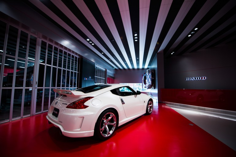The new Nismo 370Z in Nismo's corporate headquarters and showroom - image: Nissan