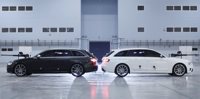 Audi Pushes it to the Limit in 2013 RS4 Avant Ultimate Paintball Duel: Video