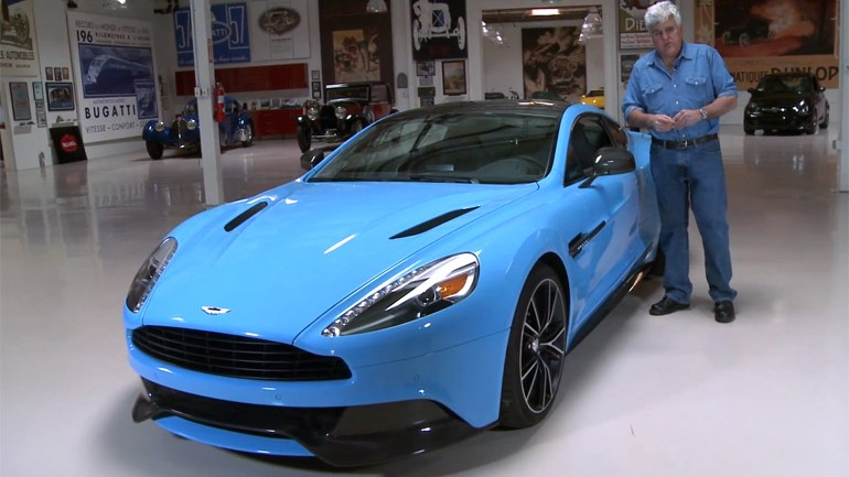 Jay Leno Welcomes 2014 Aston Martin Vanquish In His Garage: Video