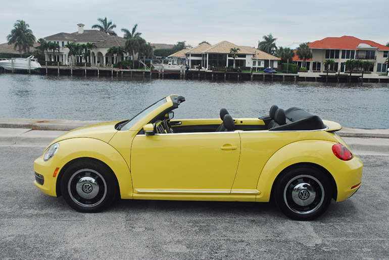 2017 Vw Beetle Convertible Beauty Side Top Down Done Small