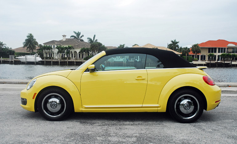 2017 Vw Beetle Convertible Beauty Side Top Up Done Small