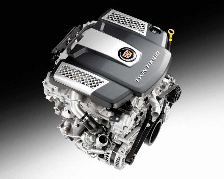 Cadillac's new 3.6-liter twin-turbo V-6 - image: GM Corp