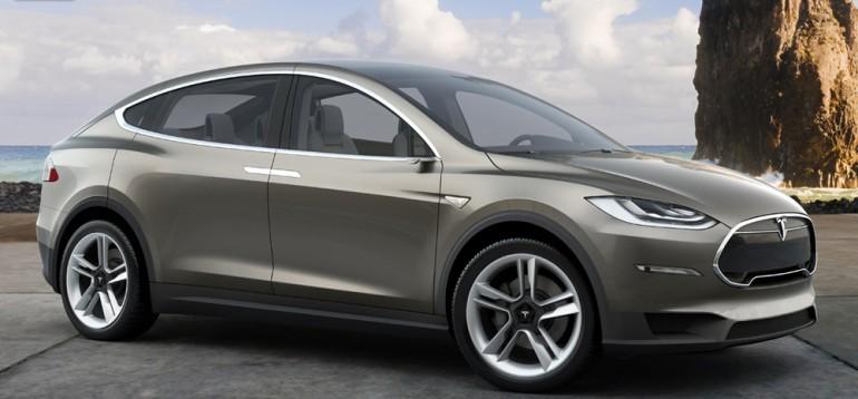 Tesla's Model X Crossover - image: Tesla Motors