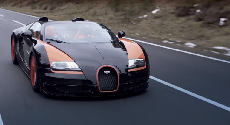 Bugatti Grand Sport Vitesse World Record Car Breaks World Record Again: Video