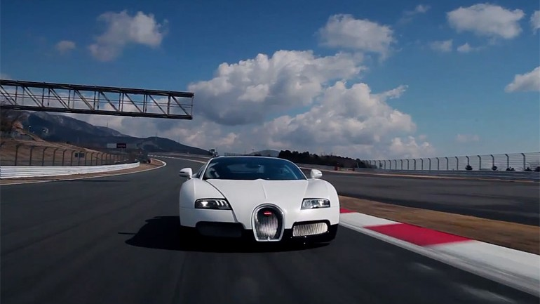 Bugatti Veyron… On a Track (Fuji Speedway attack): Video