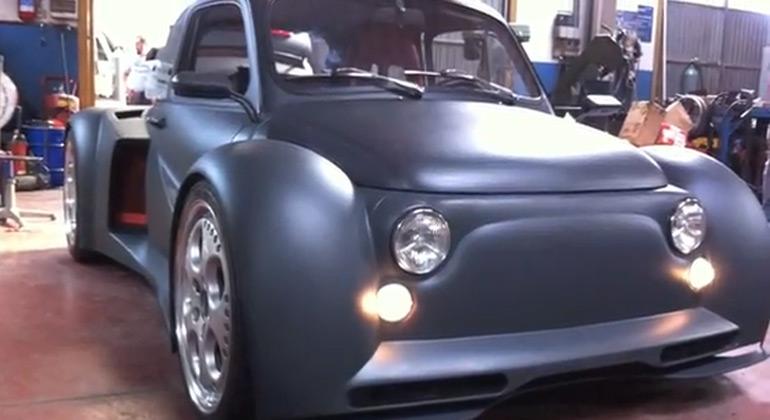Fiat 500 with 580 Horsepower Lamborghini V12