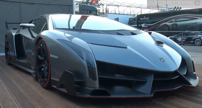 Watch and Listen to a Lamborghini Veneno before it is Loaded onto Transport Truck