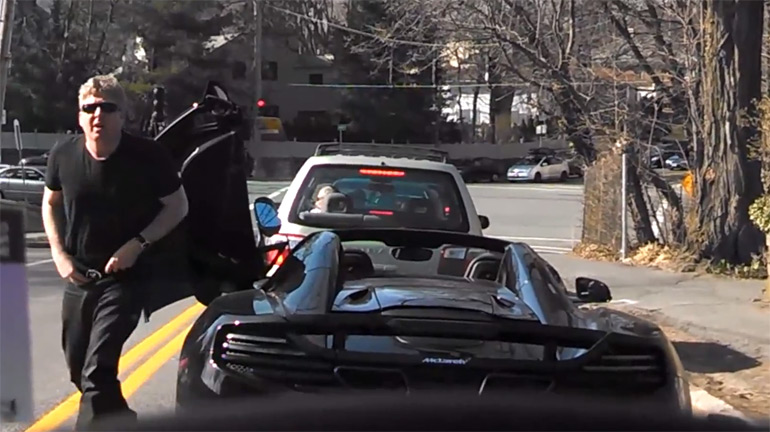 Guy In McLaren MP4-12C Spyder Really Has to Go (To The Bathroom): Video