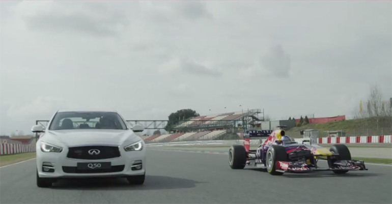 Sebastian Vettel's Day in China – Introducing the Infiniti Q50: Video