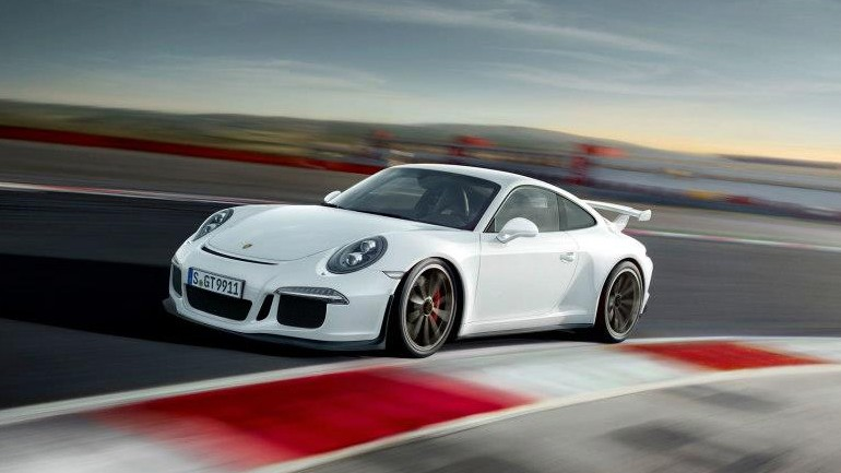 Porsche Demonstrates & Explains Technical Highlights of new 2014 911 GT3