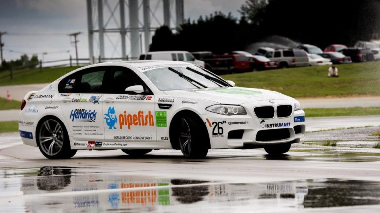 BMW Performance Driving School Sets Guinness World Drift Record in New M5