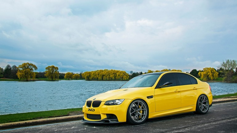 Improving Perfection: IND Distribution's Stunning Dakar Yellow E90 BMW M3 Sedan