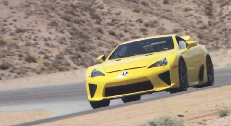 Fast and Furious Paul Walker Takes 30K Mile Lexus LFA on Track: Video