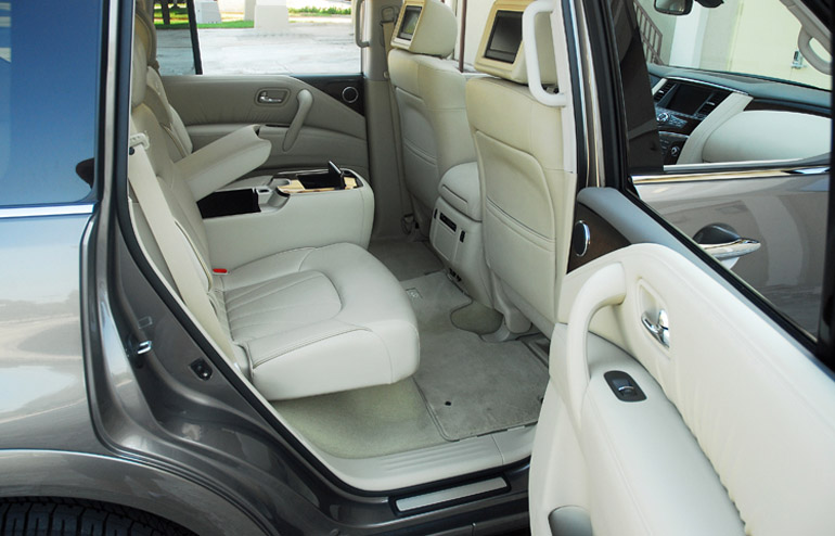 2013 Infiniti QX56 Second Row Seats Done Small