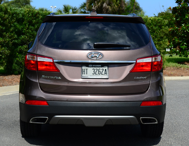hyundai santa fe limited rear