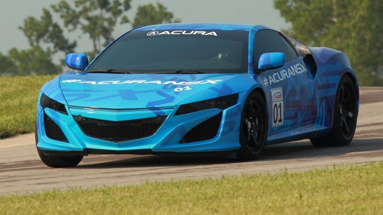2015 Acura NSX Prototype On Track: Video