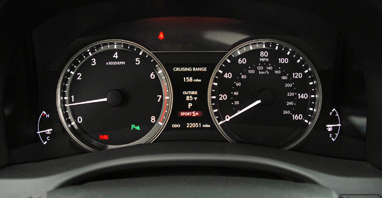 2013 Lexus GS350 FSport Cluster Done Small
