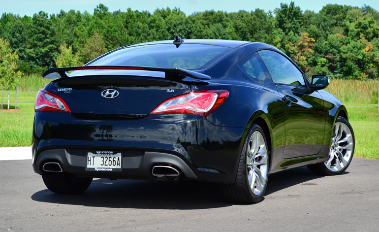 2013 Hyundai Genesis Coupe Track Rear. Posted By Malcolm Hogan Filed Under