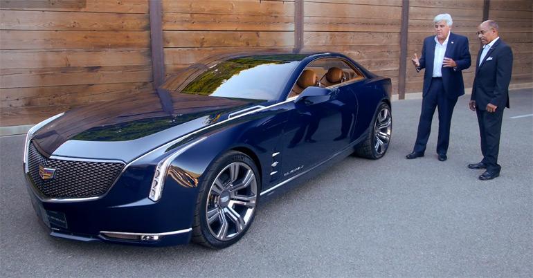 Jay Leno Previews Cadillac Elmiraj Concept w/ Ed Welburn: Video