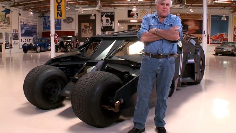 Jay Leno Goes Superhero – Drives Batman Tumbler: Video